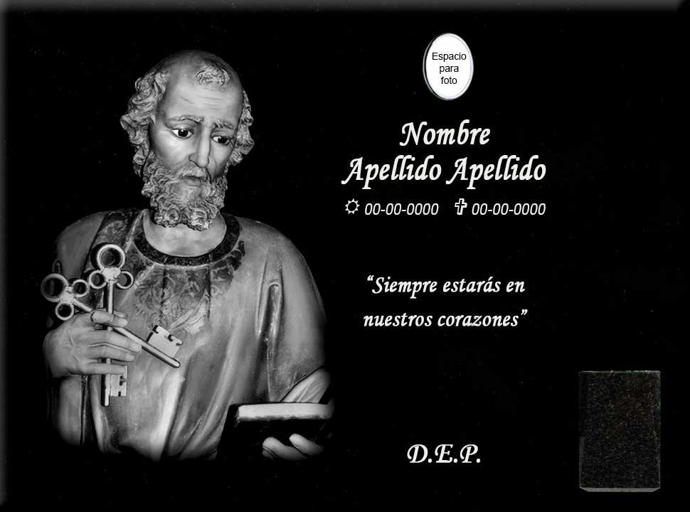 Lápida Láser de San Pedro Apóstol