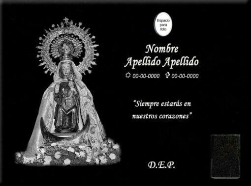 Lápida láser de la Virgen Soterrana de Olmedo
