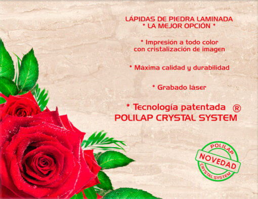 Lápida ColorFull rosa 4731 sobre mármol 1940