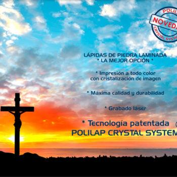 Lápida ColorFull Cruz con amanecer 6258