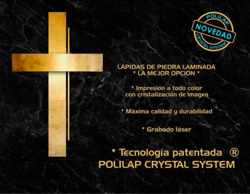 Lápida ColorFull Cruz en mármol Marquina 7333