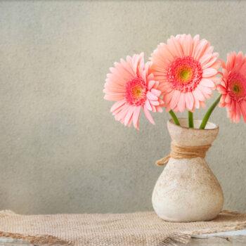 Lápida ColorFull Flores en jarrón 8634
