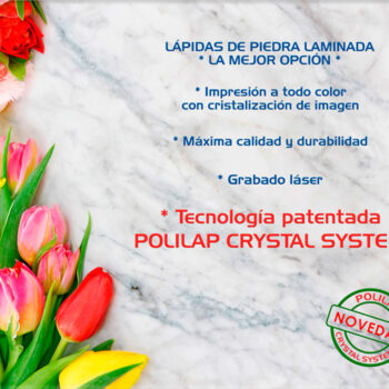 Lápida ColorFull Flores sobre mármol 8989
