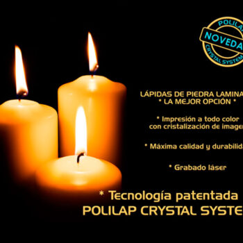 Lápida ColorFull velas encendidas 9156
