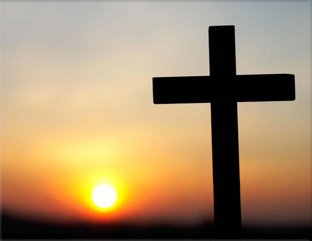 Lápida ColorFull Cruz bajo amanecer 9699