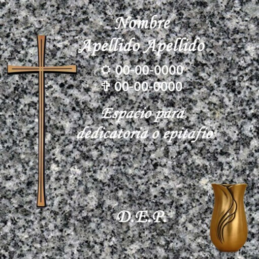 Lápida Columbario cenizas bronce