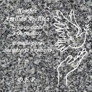 Lápida Columbario cenizas paloma